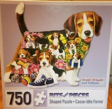 Reduced price-Bits and Pieces 750 piece shaped puzzle-Beagle Brigade