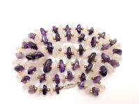 Vintage Amethyst and Rock crystal beads necklace.