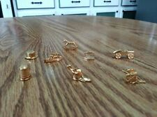 Franklin Mint Collectors Edition Monopoly Gold Tokens - Set of 8
