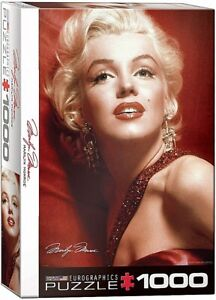 Marilyn Monroe Red Satin by Slam Shaw 1000 piece jigsaw puzzle 680mm x 480mm