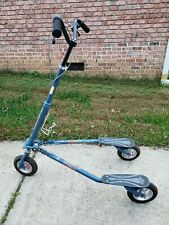 Trikke T78air Adult 3 Wheel Carving Scooter, Blue, Foldable