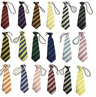 Striped School Kid Children Boys wedding event prom party plain necktie tie UK