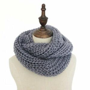 Ladies Winter Corn Scarf Shawl Neck Warmer Knit Circle Wool Wrap Snood