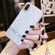 Bling Diamonds Sparkly Shell Soft back Phone case cover for Huawei Y6 Y7 Y9 2018