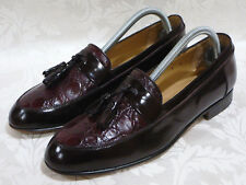 "BALLY ""LUCIO"" TASSEL LOAFERS DARK BROWN LEATHER SHOES SIZE 8 D MADE IN ITALY"