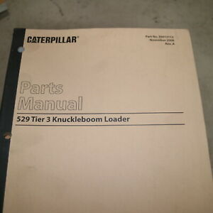 CAT CATERPILLAR 529 TIER 3 Knuckleboom Loader Spare Parts Manual book catalog