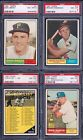 PSA 8 1961 Topps #35 Ron Santo Chicago Cubs ROOKIE CARD SET BREAK