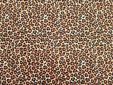 LEOPARD PRINT - BEIGE - 100% CRAFT COTTON PRINT FABRIC - ROSE & HUBBLE