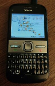 Nokia E5-00 RM-632 QWERTY Black Mobile Phone - Unknown Network (FREE POST)