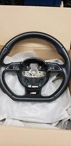 OEM Audi S4 B8 Flat Bottom Steering Wheel w Gear Paddle Shifters