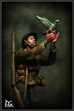 DG Artwork British Army soldier + War Pigeon WW1 1/9th Bust Unpainted kit
