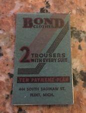 """Vintage Bond Clothes Notepad 3.75"""" X 2.375"""""""