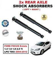 FOR FORD FOCUS Estate 1.4 1.6 1.8 2.0 Ti LPG TDCi 2004-2012 REAR SHOCK ABSORBERS