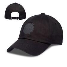 CONVERSE MENS BASEBALL CAP.NEW BLACK TONAL STRAPBACK ADJUSTABLE SNAPBACK HAT 8