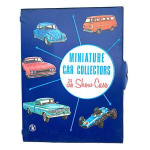 Vintage 1966 MATTEL INC. No. 5024 Miniature Car Collectors 24 Car Show Case