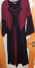 Mittelalterkleid schwarz-rot L/XL BARES