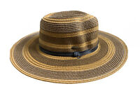 Coolibar Brown Ring Men's Sun Hat With Black Stripe. One Size Fits All! Sunblock