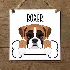 BOXER cucciolo osso piastrella targa
