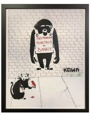 Banksy Kawn Artist Blek le Rat Limited Edition Print 16x20 Street Art Graffiti