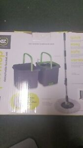 SPIN MOP WITH DETACHABLE BUCKET SYSTEM W/ EXTRA CLOTH