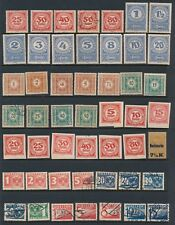 Austria **90+ POSTAGE DUES (1899-1935)** AS SHOWN; MH & USED **GREAT VALUE**