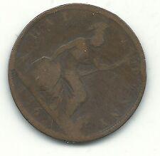 A Nice Vintage 1862 Great Britain English 1/2 Half Penny Cent-Nov610
