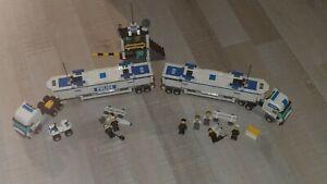 LEGO CITY POLICE 7743+7743 semi remorque camion barrage+instruc/jpj27