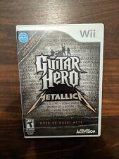 Guitar Hero: Metallica w/Manual Nintendo Wii
