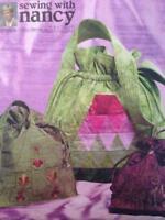 McCalls Sewing Pattern 4884 Three Lined Drawstring Bags Handbag Uncut Fashion