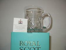 ROYAL SCOT CRYSTAL  GLASS  TANKARD,ROYAL WEDDING.