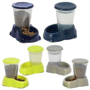 Dog & Cat Automatic 1.5L Feeder & Sipper Pet Dry Food Water Dispenser Bowl Dish