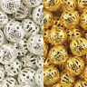 Gold & Silver Plated Metal Filigree Spacer Beads & Choose 4mm,6mm,8mm,10mm,12mm