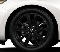 8x Leichtmetallfelgen Aufkleber Passt Opel Logo Decal Graphics HS66