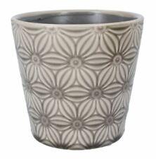 Geometrico Foglie Piccole in ceramica 10cm PER INTERNI CASA VASO titolare COPERTURA FIORIERA