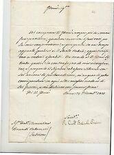 1814 a CONTESSA VALLEMANI ROMA-FABRIANO-firma AUTOGRAFA CARDINALE BRASCHI-f56