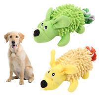 KQ_ FP- HK- JW_ AU_ Pet Dog Puppy BB Vocal Sound Soft Bite Plush Toy Non-toxic M
