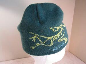 Arc'Teryx Forest Green Logo Wool Blend Knit Beanie Ski Snowboard Hat OSFA