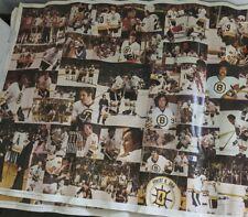 Vintage 1980 Boston Bruins Hockey Poster Lot (2)