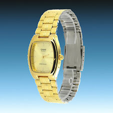 Casio MTP-1169N-9A Mens Gold Analog Watch Stainless Steel Band Square Dress New