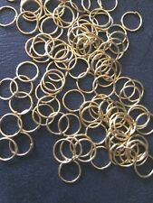 JUMP RINGS BULK LOT OF 100 - 8 mm Gold plated FINDINGS - CRAFTS - AUS SELLER!