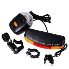 Bicycle LED Turn Signal Tail Brake Light Direction Indicator Warning Lamp Horn