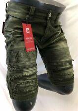 Bermuda da uomo pantaloncini verde in cotone