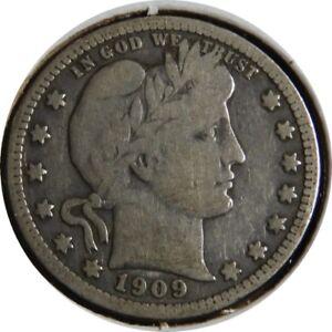 elf Barber Quarter Dollar 1909 Szego Collection