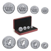 2017 Canadian Silver Maple Leaf Fractional Coin Set - Celebrate the Maple Leaf -