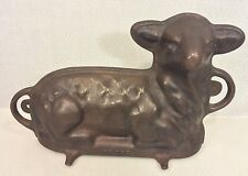 Antique Griswold Cast Iron Baking Mold Lamb Mold #866 Pans 921 & 922
