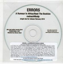 (GX709) Errors, A Rumour In Africa / Beat The Bookies - 2010 DJ CD