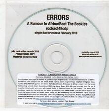 (GX709) Errors, A Rumour In Africa / Beat The Bookies - 2010 DJ CD