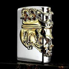 Zippo Skull King Silver & Gold Collectible Beautiful lighter Cool Japan F/S New