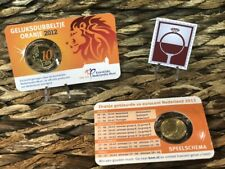 10 cent COINCARD NEDERLAND 2012 - GELUKSDUBBELTJE ORANJE - NORDIC GOLD ORANJE