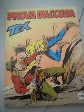 TEX originale n. 338 PROVA D'ACCUSA, 1988 - OTTIMO!